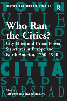 Voluntary Society in Mid-Nineteenth-Century Pest: Urbanisation and the Changing Distribution of Power