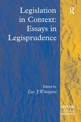 Legislation in Context: Essays in Legisprudence: 1st Edition (Paperback) book cover