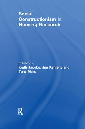 Social Constructionism in Housing Research: 1st Edition (Paperback) book cover