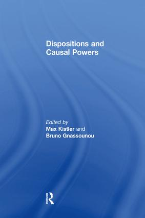 Dispositions and Causal Powers: 1st Edition (e-Book) book cover