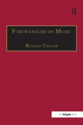 Furtwängler on Music: Essays and Addresses by Wilhelm Furtwängler, 1st Edition (Paperback) book cover