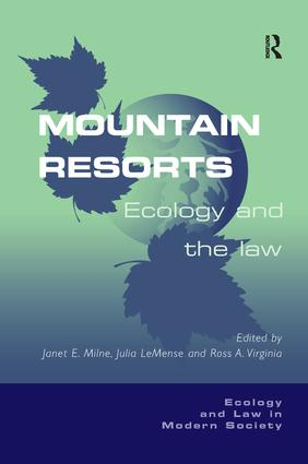 Mountain Resorts: Ecology and the Law book cover