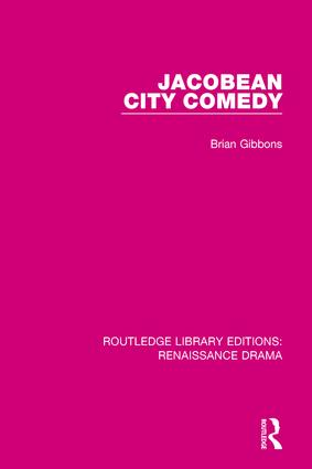 Jacobean City Comedy book cover
