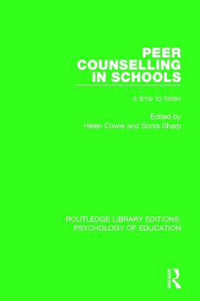 Peer Counselling in Schools: A Time to Listen book cover