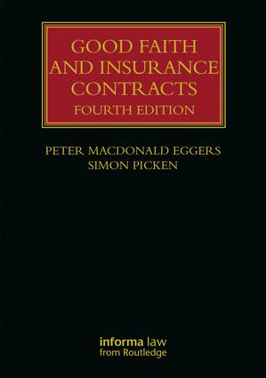 Good Faith and Insurance Contracts: 4th Edition (Hardback) book cover