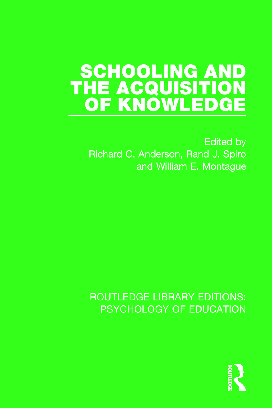 Schooling and the Acquisition of Knowledge book cover
