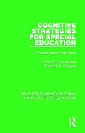 Cognitive Strategies for Special Education: Process-Based Instruction book cover