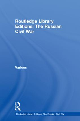 Routledge Library Editions: The Russian Civil War book cover