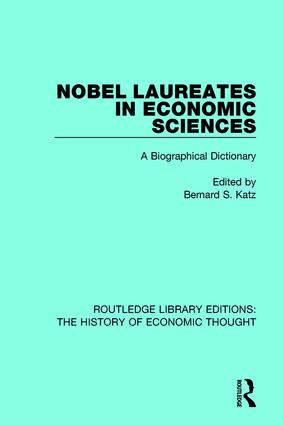 Nobel Laureates in Economic Sciences: A Biographical Dictionary book cover