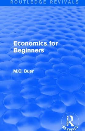 Routledge Revivals: Economics for Beginners (1921) book cover