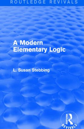 Routledge Revivals: A Modern Elementary Logic (1952) book cover
