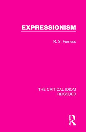 Expressionism: 1st Edition (Hardback) book cover