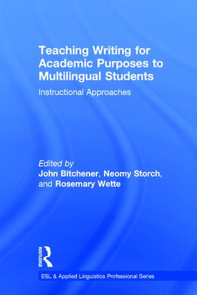 Teaching Writing for Academic Purposes to Multilingual Students: Instructional Approaches book cover