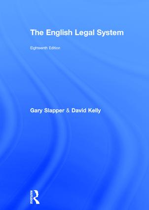 The English Legal System: 2015-2016 book cover