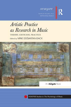 Artistic Practice as Research in Music: Theory, Criticism, Practice: 1st Edition (Paperback) book cover