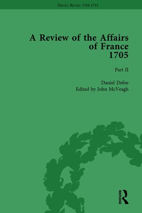 Defoe's Review 1704-13, Volume 2 (1705), Part II book cover