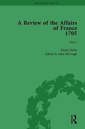 Defoe's Review 1704-13, Volume 2 (1705), Part I: 1st Edition (Hardback) book cover