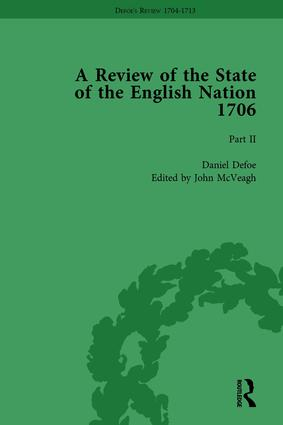Defoe's Review 1704-13, Volume 3 (1706), Part II: 1st Edition (Hardback) book cover