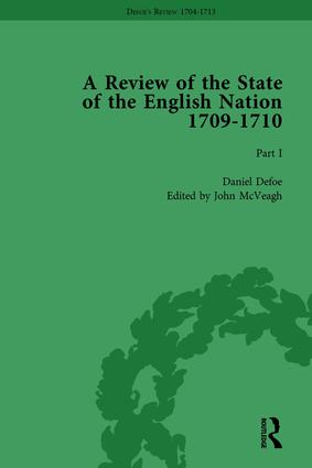 Defoe's Review 1704-13, Volume 6 (1709-10), Part I: 1st Edition (Hardback) book cover