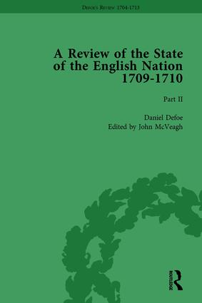 Defoe's Review 1704-13, Volume 6 (1709-10), Part II: 1st Edition (Hardback) book cover
