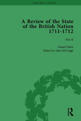 Defoe's Review 1704–13, Volume 8 (1711–12), Part II book cover