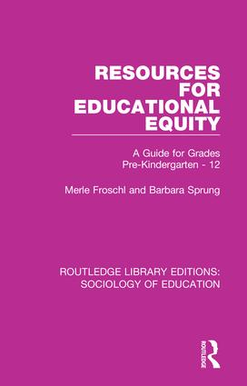 Resources for Educational Equity: A Guide for Grades Pre-Kindergarten - 12 book cover