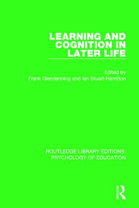 Learning and Cognition in Later Life book cover