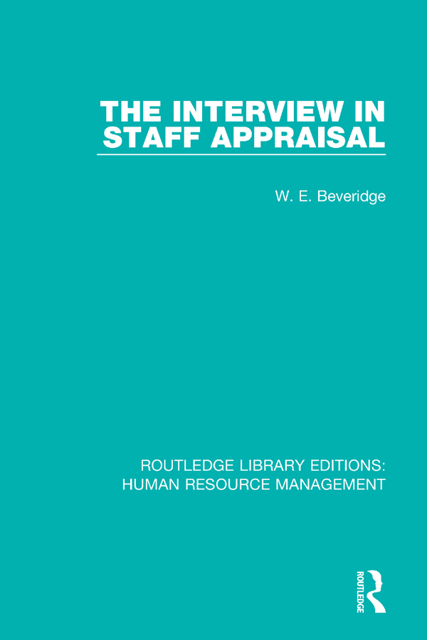 The Interview in Staff Appraisal book cover