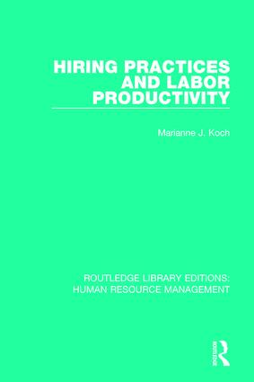 Hiring Practices and Labor Productivity book cover
