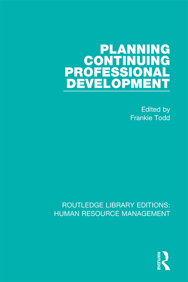 Planning Continuing Professional Development: 1st Edition (Paperback) book cover