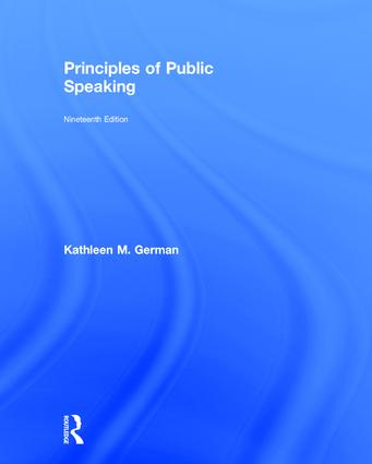 Principles of Public Speaking: 19th Edition (Hardback) book cover