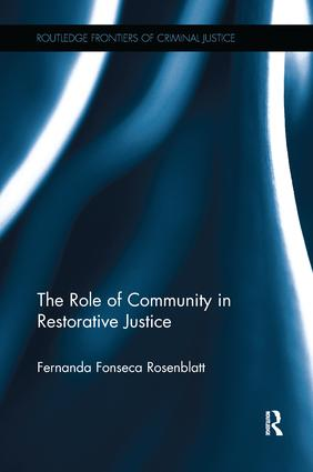 The Role of Community in Restorative Justice book cover