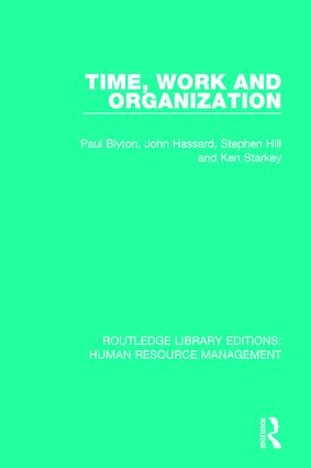 Time, Work and Organization book cover