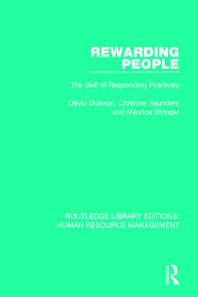 Rewarding People: The Skill of Responding Positively book cover