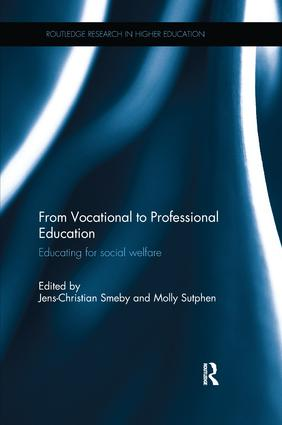 From Vocational to Professional Education: Educating for social welfare, 1st Edition (Paperback) book cover