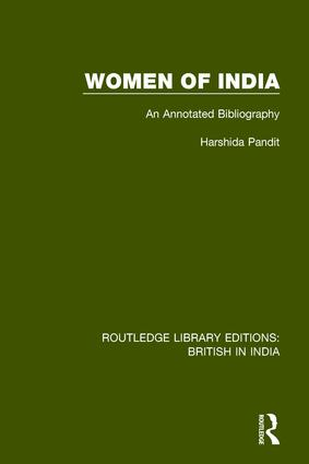 Women of India: An Annotated Bibliography book cover