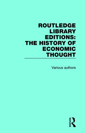 Routledge Library Editions: The History of Economic Thought book cover