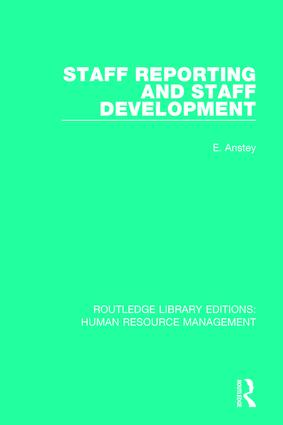 Staff Reporting and Staff Development book cover