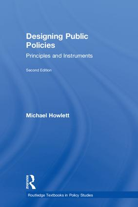 Designing Public Policies: Principles and Instruments book cover