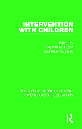 Intervention with Children book cover