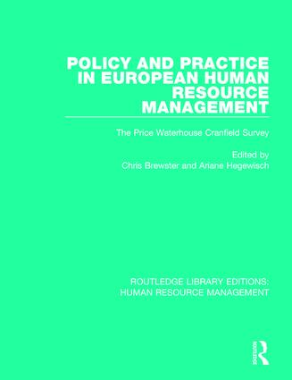 Policy and Practice in European Human Resource Management: The Price Waterhouse Cranfield Survey book cover