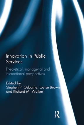 Innovation in Public Services: Theoretical, managerial, and international perspectives, 1st Edition (Paperback) book cover