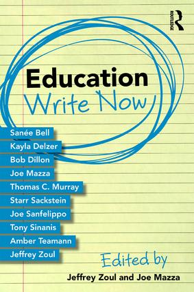 Education Write Now: 1st Edition (Paperback) book cover