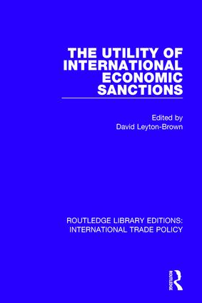 The Utility of International Economic Sanctions: 1st Edition (Paperback) book cover