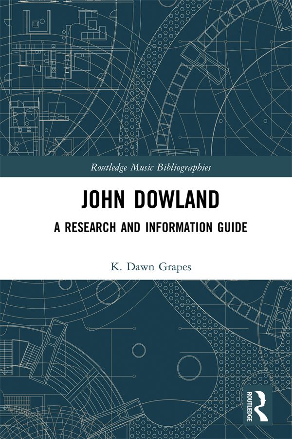John Dowland: A Research and Information Guide book cover