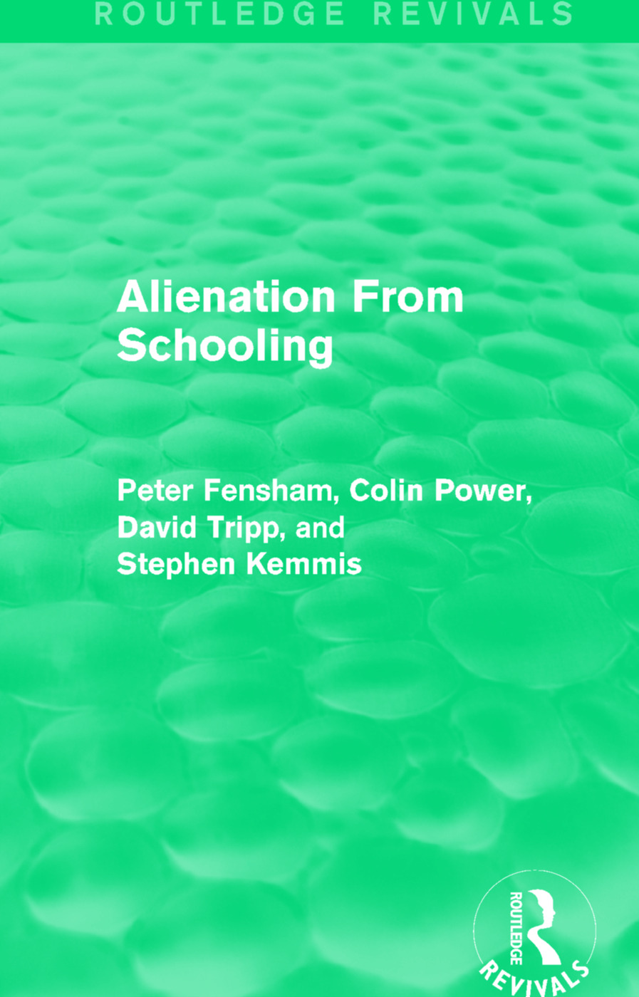 Alienation From Schooling (1986) book cover