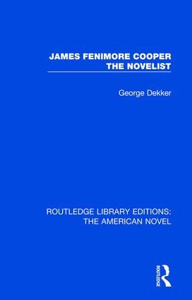 James Fenimore Cooper the Novelist book cover