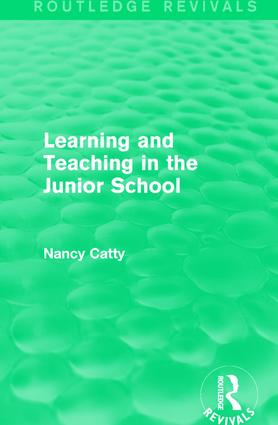 Learning and Teaching in the Junior School (1941) book cover