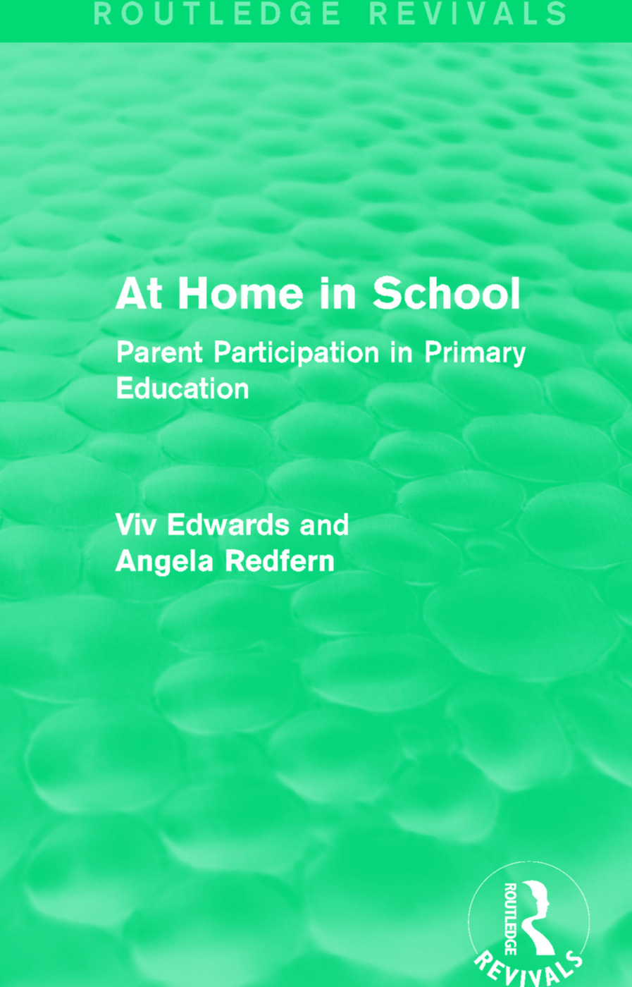 At Home in School (1988): Parent Participation in Primary Education book cover