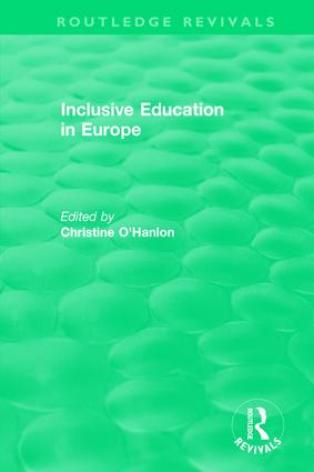 Inclusive Education in Europe: 1st Edition (Hardback) book cover